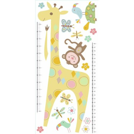 Tribal Baby Animal Growth Chart Peel And Stick Wall Decals - Iron On Baby Skeleton Decal