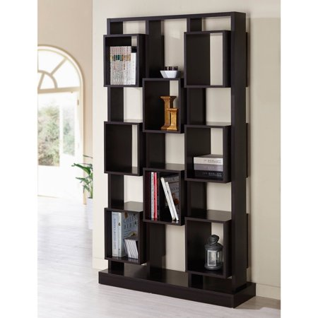Furniture of america rembald multi cubby display case for Furniture of america nara contemporary 6 shelf tiered open bookcase
