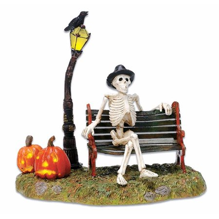 Decorate My Cubicle For Halloween (Department 56 Accessory RESTING MY BONES Polyresin Halloween)