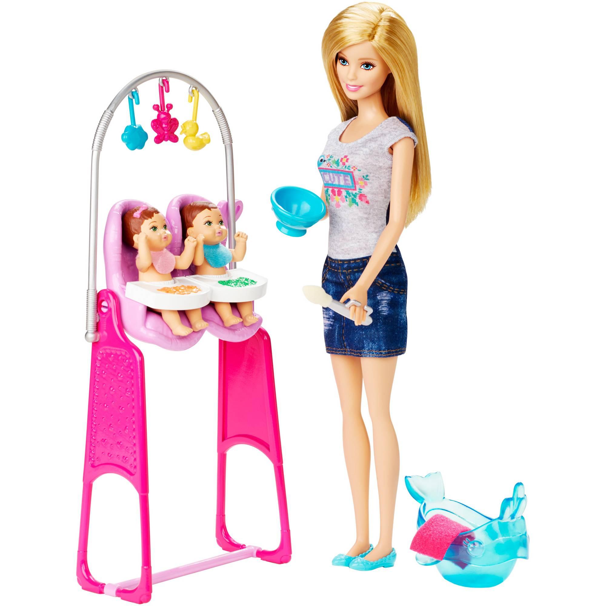 Barbie Career Twin Babysitter Playset