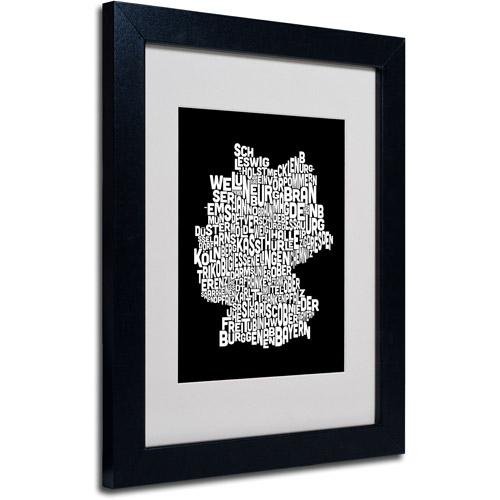 "Trademark Fine Art ""Germany Regions Map"" Matted Framed Art by Michael Tompsett"