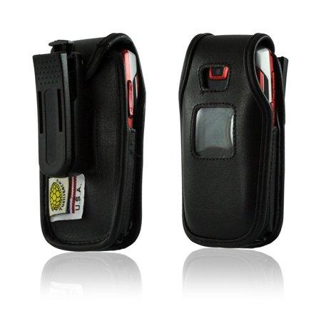 Turtleback Samsung A437 A436 Flip Phone Leather Case Plastic Belt Clip