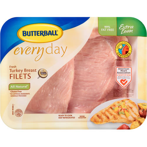 Butterball  Everyday Fresh Extra Lean Turkey Breast Filets Tray 1.0-1.25 lbs.
