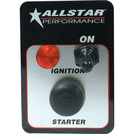 Allstar Performance ALL80142 Standard Ignition One Switch Panel with Pilot Light