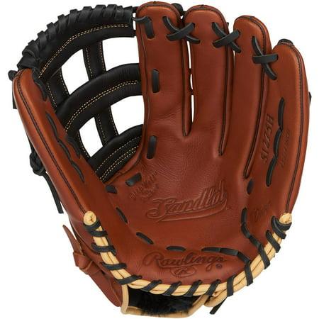 Outfield Pattern Baseball Glove - Rawlings Adult Sandlot 12.75