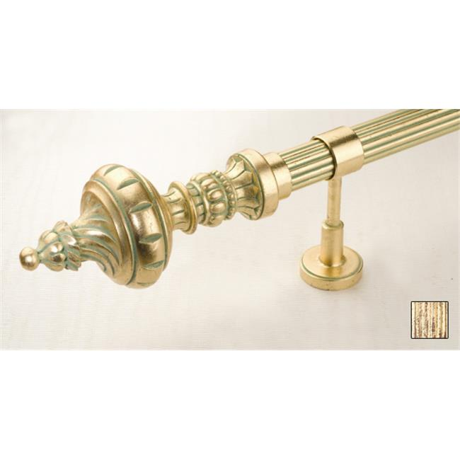 WinarT USA 8. 1098. 45. 13. 320 Palas 1098 Curtain Rod Set - 1. 75 inch - Pheonix Gold - 126 inch