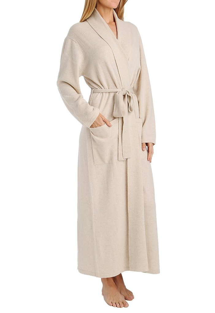 2011 Cashmere Classic Long Robe With Shawl Collar