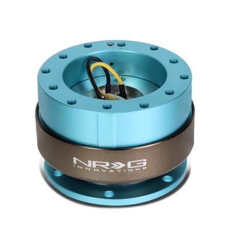 Quick Connect Rotary Steering - NRG Innovations SRK-200MF Steering Wheel Quick Release Adapter Gen 2.0 Minty Fresh Body/Titanium Ring