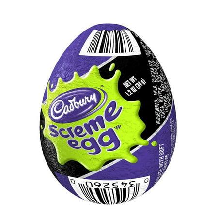 CADBURY Halloween SCREME EGG Candy (1.2-Ounce, Pack of 48) - Halloween Cadbury