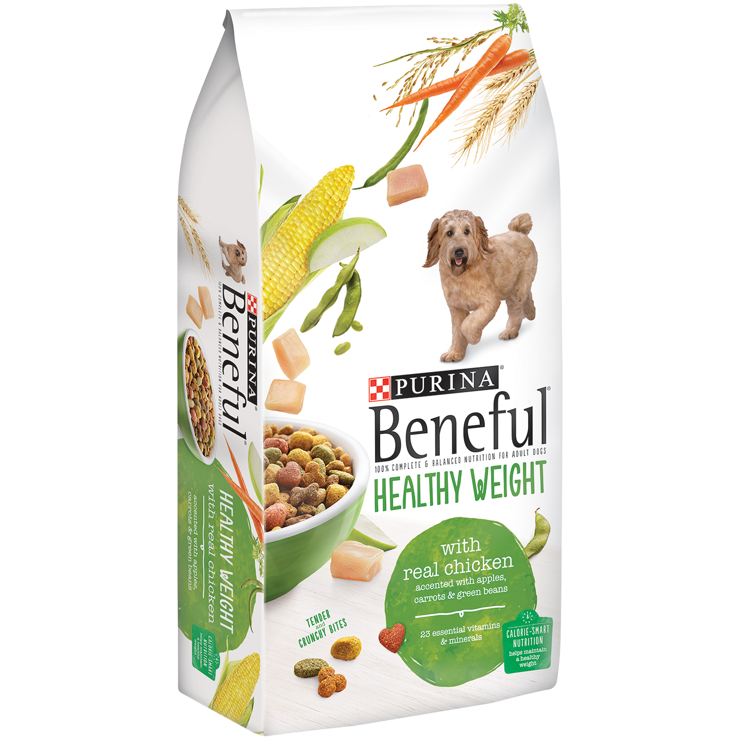 Purina Beneful Healthy Weight With Real Chicken Dog Food 15.5 lb. Bag