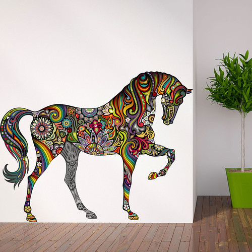 My Wonderful Walls A Horse of Many Colors Wall Sticker