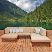 Amazonia Manchester 6 Piece Sectional Set with Cushions