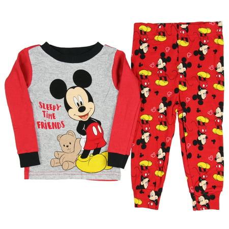 2a8fbc8ed Disney Baby Boys' Mickey Mouse Sleepy Time Friends 2 Piece Pajama Sleepwear  Set – Walmart Inventory Checker – BrickSeek