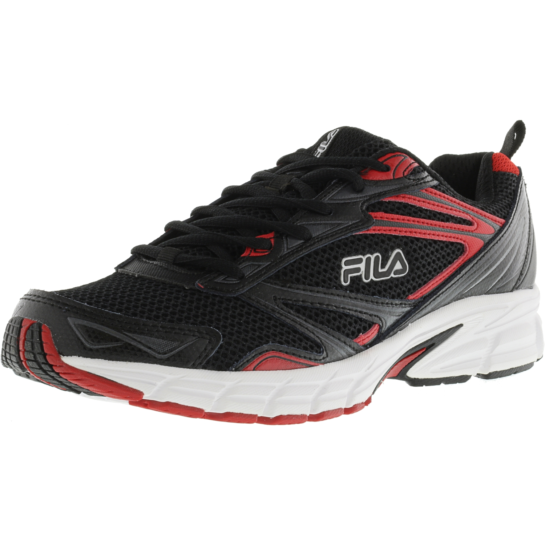 Fila Men's Royalty Black   Red White Ankle-High Running Shoe 8M by Fila