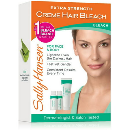 Sally Hansen Extra Strength Creme Hair Bleach, 1 kit (Hair Removal Bleach)