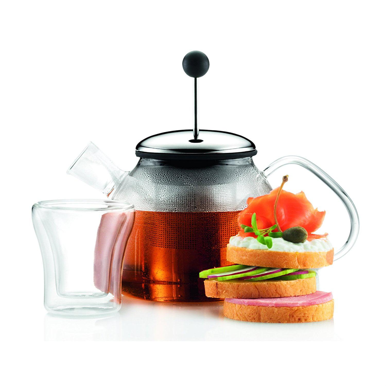 Bodum Marcel Glass Tea Press, 40 Ounce