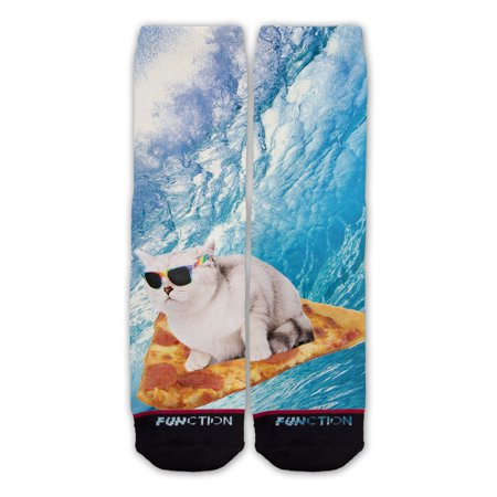 Function   Pizza Surfing Cat Sock