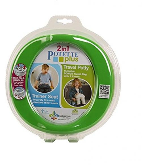 Kalencom 2-in-1 Potette Plus Portable Potty and Trainer Seat Green by Kalencom