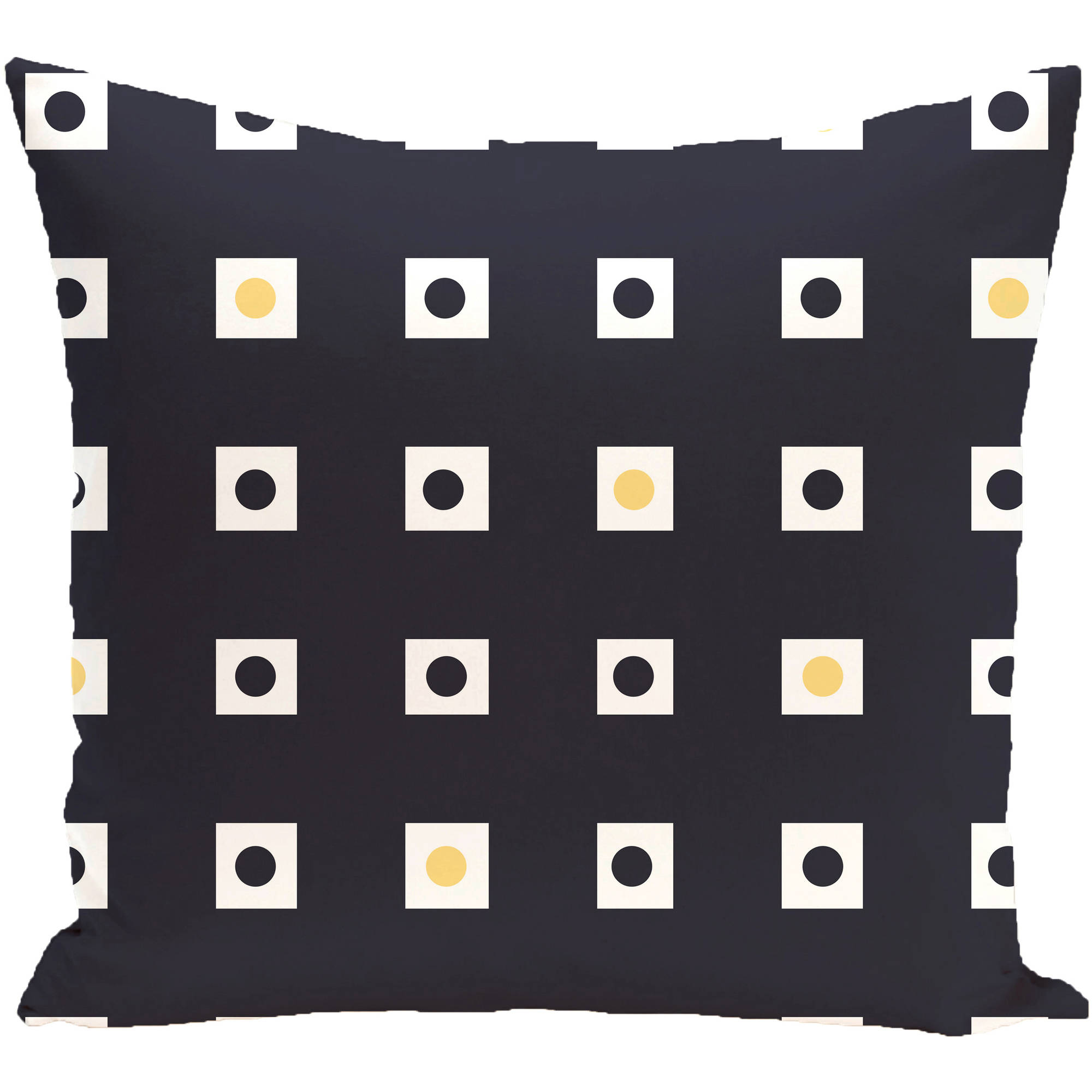 "Simply Daisy 16"" x 16"" Hip to be Square Geometric Print Outdoor Pillow"