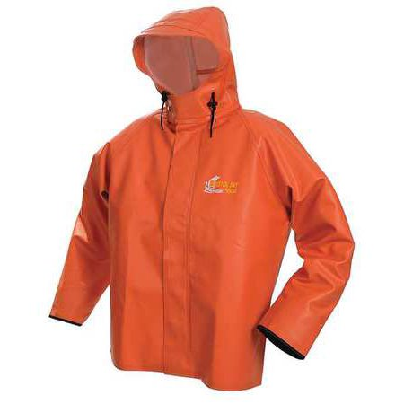 VIKING 8125J-XXXL Rain Jacket w/Hood, 0.75mm PVC, Orange, 3XL ...