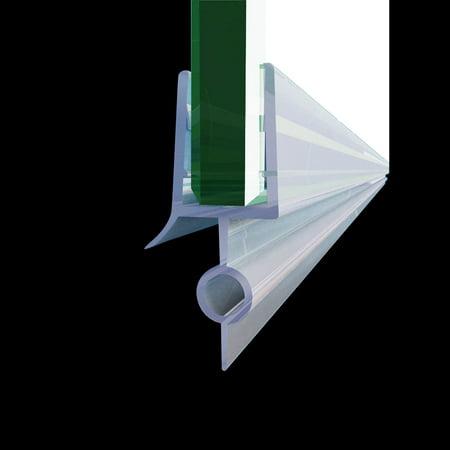 "SUNNY SHOWER Fit 1/4"" Frameless Shower Door Sweep Bottom Seal Wipe Drip Rail 36"" JT-298-36"
