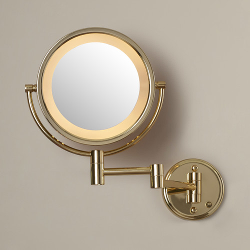 Darby Home Co Dual Sided Wall Mount Halo Lighted Mirror