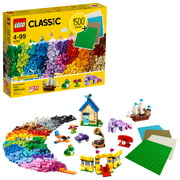 LEGO Classic Bricks Bricks Plates 11717 Building Toy; Great Gift for Kids; Imaginative, Creative, Educational Play Toy (1504 Pieces)