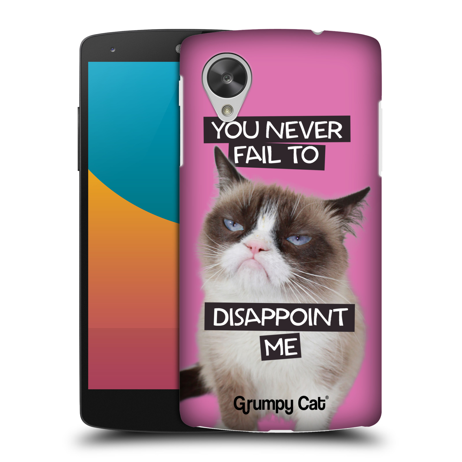 OFFICIAL GRUMPY CAT QUOTES HARD BACK CASE FOR LG PHONES 2