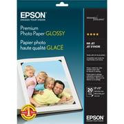 Epson Premium Inkjet Print Photo Paper, White, 20 Sheet (Quantity)