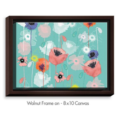 DiaNoche Designs \'Poppies Run\' by Julie Ansbro Painting Print on ...