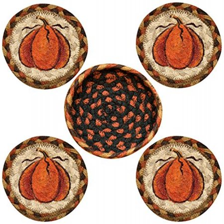 Earth Womens Harvest (Earth Rugs 29-CB222HP Coasters in a Basket, Harvest)