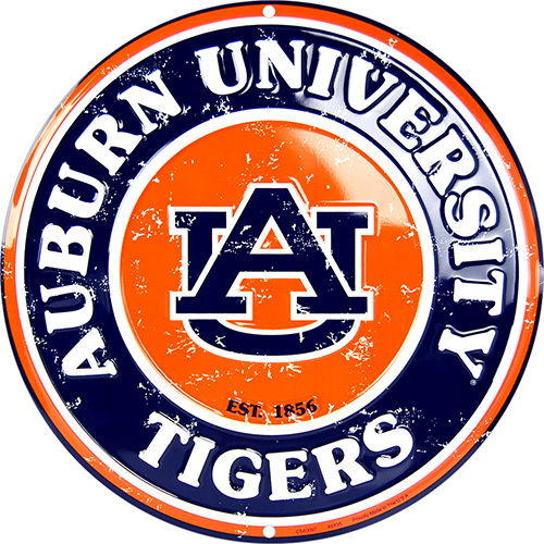 Auburn Tigers Circle Sign
