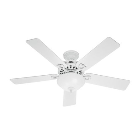 Hunter 53059 52 In  Astoria White Ceiling Fan With Light