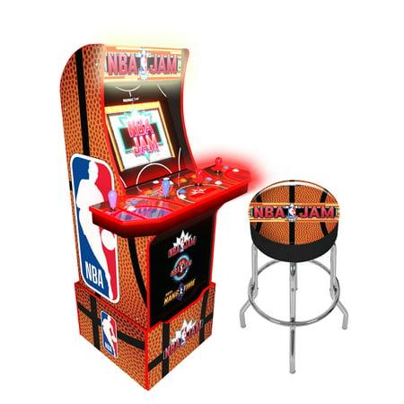 Arcade1Up NBA Jam Arcade with Riser + Stool
