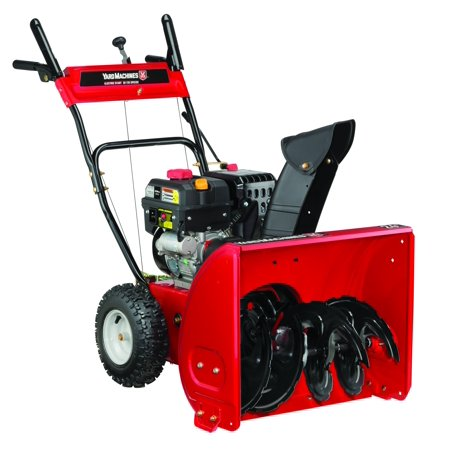 yard machines 24 two stage snow blower with electric start