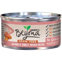 (12 Pack) Purina Beyond Grain Free Salmon & Sweet Potato Recipe in Gravy Wet Cat Food 3 Oz. Can