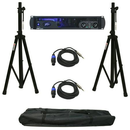 Peavey Ipr2 2000 Pro Audio Speaker Amplifier Amp Stands & Speakon To 1/4