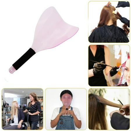 Jeobest 1PC Hairdressing Hairspray Mask - Hair Salon Hairdresser Haircut Cover Mask Haircut Hair Coloring Professional Salon Hairdresser Shape Face Eyes Protection Cover Mask Salon Styling Tool MZ