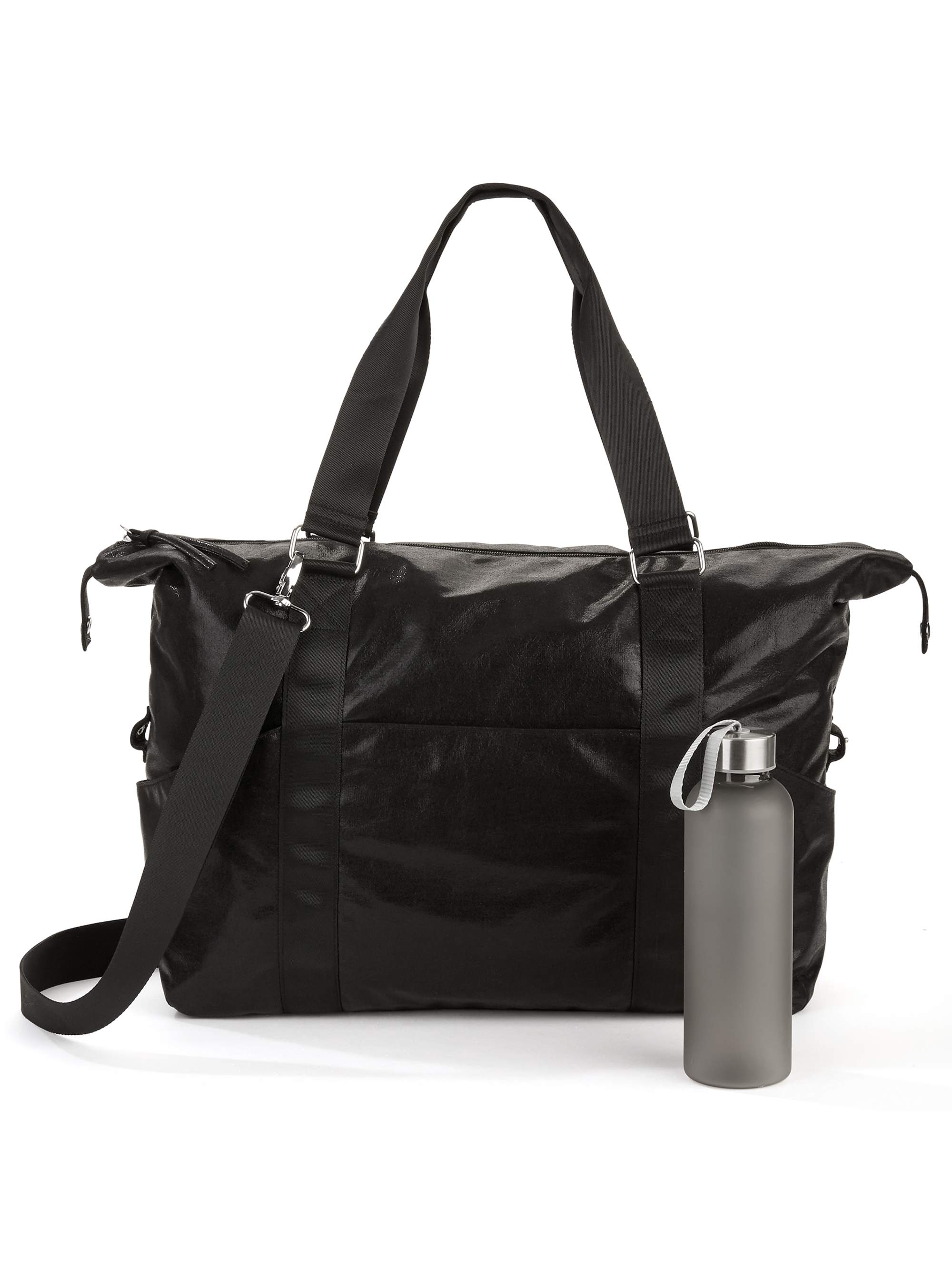 No Boundaries Black Gym Bag with Waterbottle