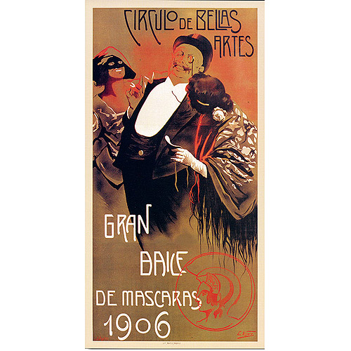 "Trademark Fine Art ""Gran Baile de Mascaras"" Canvas Art, 10x19"