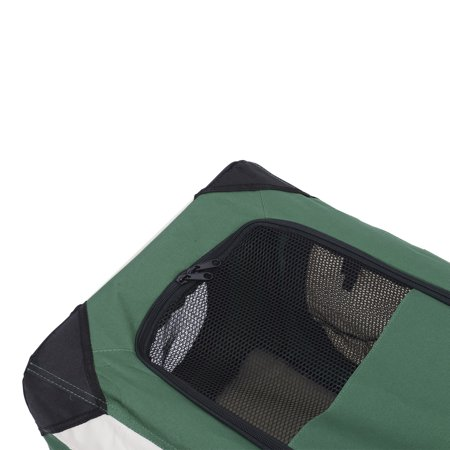 Pawhut 32 Soft Sided Folding Crate Pet Carrier - Green