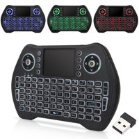 Backlit 2.4GHz Wireless Keyboard Touchpad Mouse Handheld Remote Control 3 Colors Backlight for Android Smart TV PC Notebook