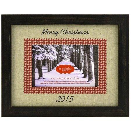 St Nicholas Square Merry Christmas 2015 Wood Photo Frame Walmartcom