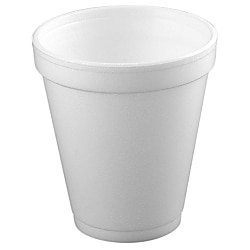 Dart® Insulated Foam Drinking Cups, White, 8.5 Oz, Box Of 51 Dart Horizon Foam Cup