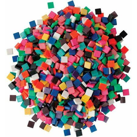 Chenille Kraft Plastic Assorted Shape Mosaic Tile, Multiple Colors, 1 Pound ()