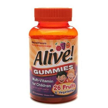 Alive gélifiés multivitaminés pour les enfants 60 Chaque (pack de 2)