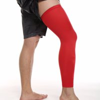 CFR Compression Leg Sleeves Knee Brace for Sports, Running, Basketball, Calf Knee Pain Relief, Improve Blood Circulation and Injury Recovery - Best knee Calf Support for Men & Women Single