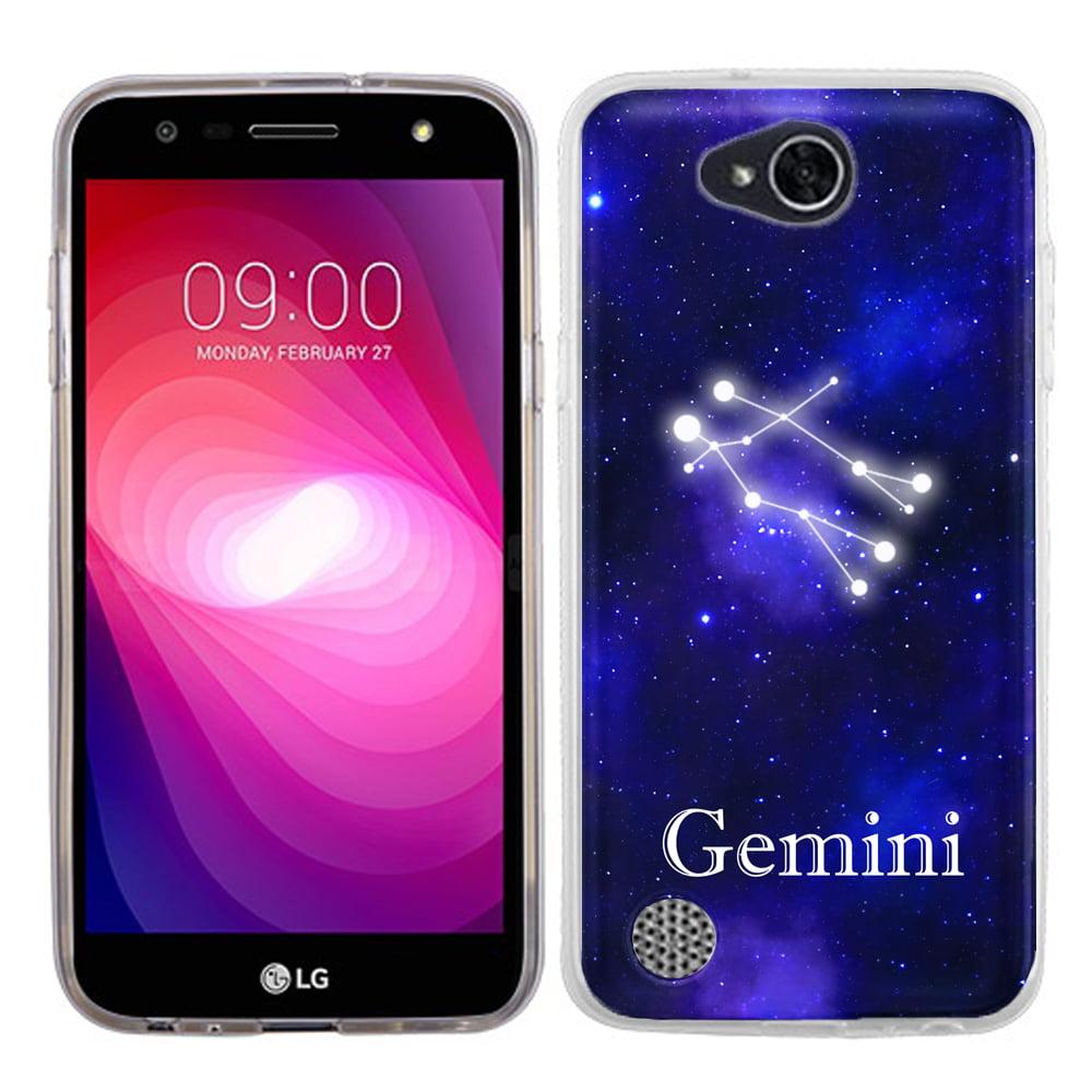 Slim Case for LG X Power 2 / LG Fiesta 4G LTE, OneToughShield ® Premium TPU Gel Phone Case - (Zodiac / Gemini)