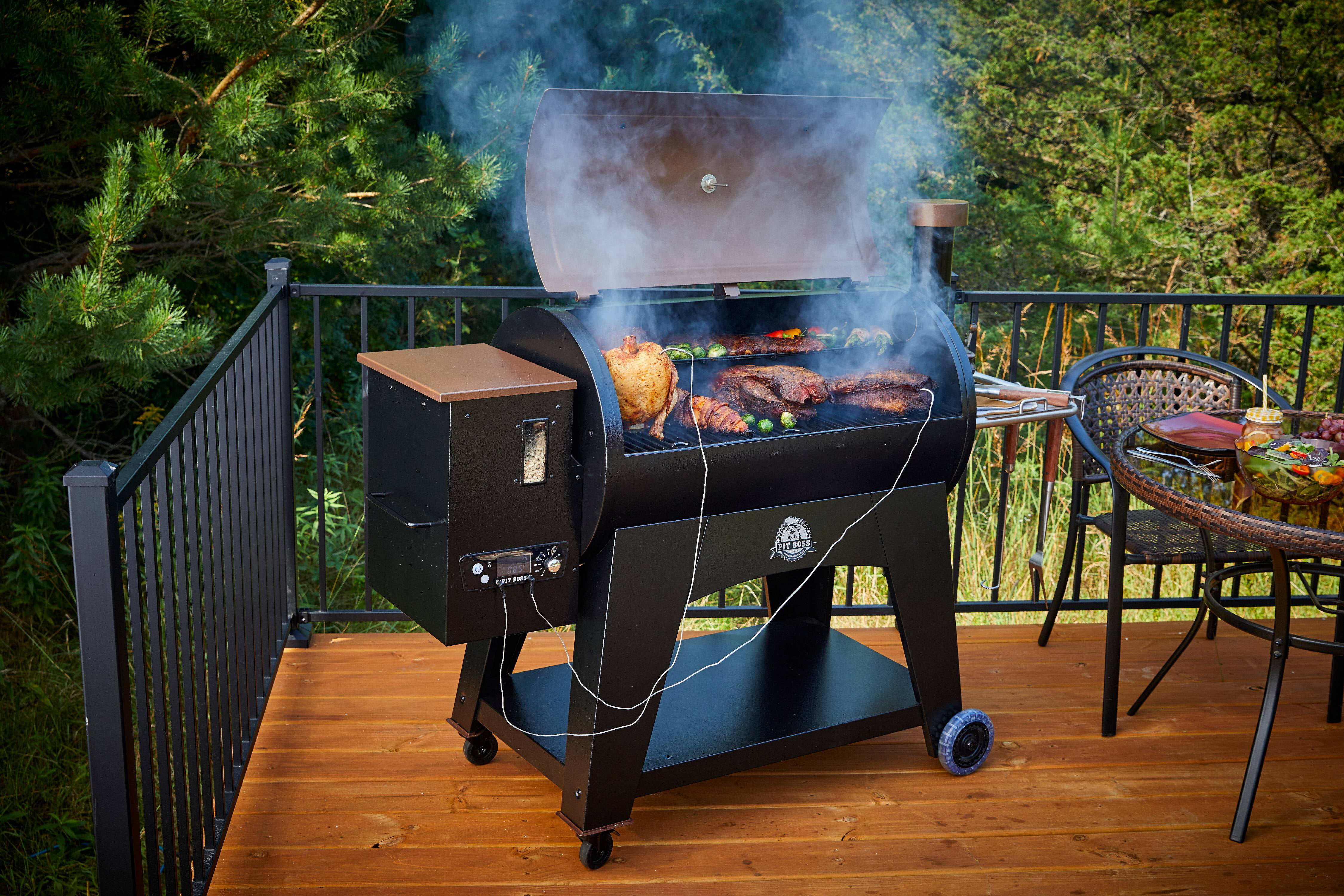 Pit Boss Austin Xl 1000 Sq In Pellet Grill W Flame Broiler Traeger 100 Wiring Diagram Cooking Probe