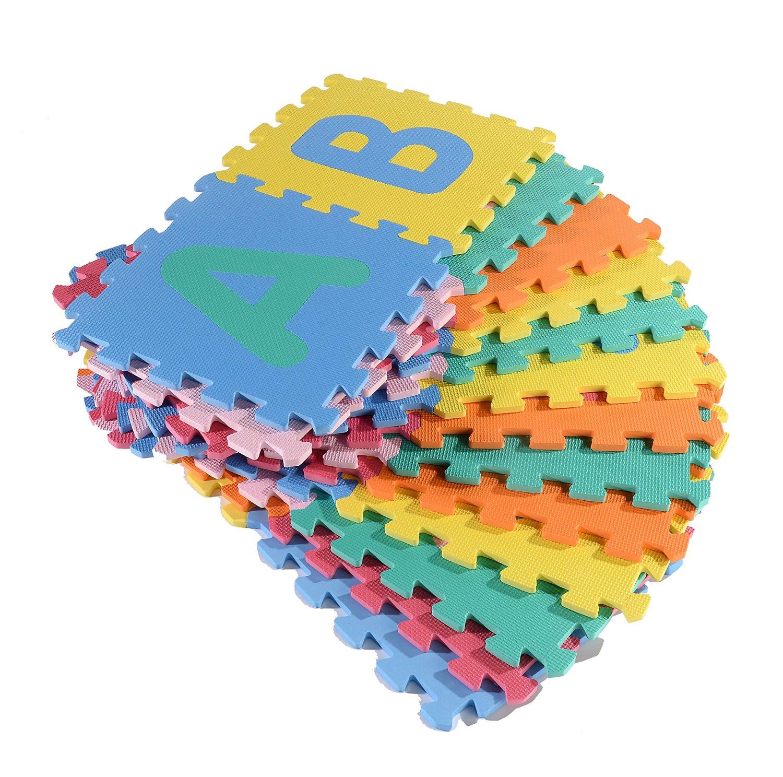 Realkids NON-TOXIC EVA Foam Interlocking 26-Letter Educational ABC Floor Mat